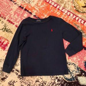 Boys Ralph Lauren Navy T-Shirt - Size 5